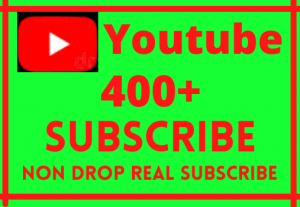 YOUTUBE 400+ SUBSCRIBERS  NON DROP, REAL HUMAN PROMOTION