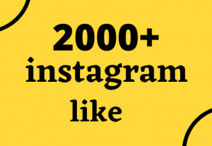 2000+ instagram likes non drop 100 % grenteed and organic