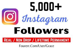 Get 5000+ Instagram Followers, Non-drop, Active User and Lifetime Permanent