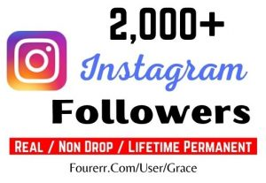 Get 2000+ Instagram Followers, Non-drop, Active User and Lifetime Permanent