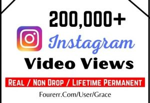 Get 200,000 Real Instagram Video Views, Instant start, Non-drop, and a lifetime permanent