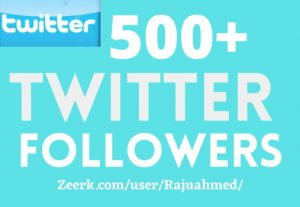 ADD 500+ TWITTER FOLLOWERS, NON DROP, TOP QUALITY ACTIVE PROFILES, BEST SERVICE IN MARKET