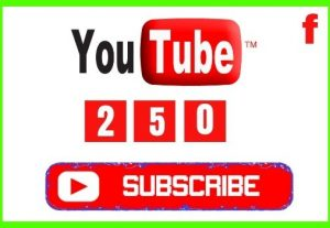 Get 250+ YouTube Real and Organic Subscribers, Non-drop and Lifetime Permanent guaranteed