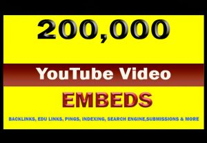 200,000 YouTube video Embeds For $5