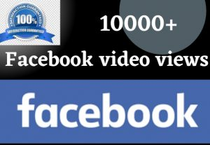 you will Get 10000+ facebook video views non drop life time grenteed 100% grenteed