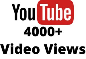 i will give you 4k youtube video views non drop but Real 100% organic