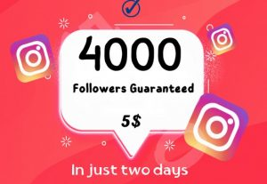 I will add 4000 real Instagram followers with a 30-day guarantee