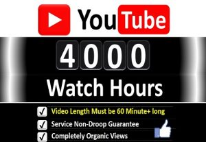 Get Organic 4000+ Hours Watch Time YouTube Video Views & 1000 Likes for 𝐌𝐨𝐧𝐞𝐭𝐢𝐳𝐚𝐭𝐢𝐨𝐧 Channel, Guaranteed Service .