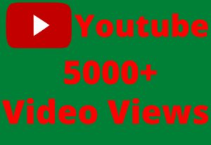 get 5000+youtube video views non drop but real 100% organic lifetime permanent