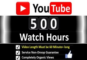 Get Organic 500+ Hours Watch Time YouTube Video Views & 100 Likes for 𝐌𝐨𝐧𝐞𝐭𝐢𝐳𝐚𝐭𝐢𝐨𝐧 Channel, Guaranteed Service .