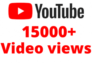 Get organic15000+youtube video views permanent life time grenteed