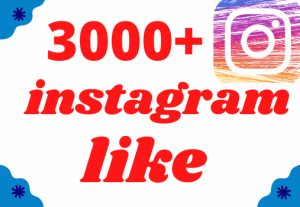instagram 3000+ likes non drop but Real