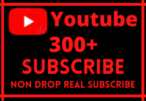 Instant 300+ YouTube subscribe Good Retention, Non Drop Guaranteed
