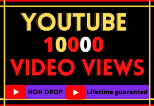 i will do youtube video 10000 organic views. High quality 100% real and life time permanent
