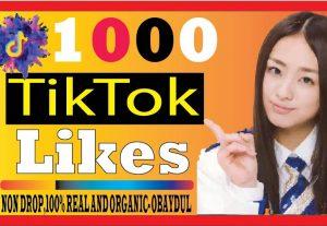 I WILL DO SUPER FAST TIKTOK 1000 LIKES, NON DROP LIFE TIME GUARANTEED 100% REALL AND ORGANIC