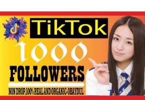 i will do fast your tiktok account 1000 followers non drop ,life time guaranteed and organic