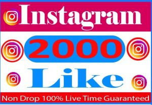I Need Provide 2000+ Instagram Like Real active User Non Drop And Live Time Guaranteed