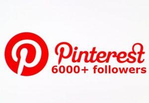SEND you 6000+ Pinterest followers INSTANT start
