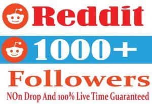 I Will Provide 1000+ Reddit Followers Non Drop 100% Live Time Guaranteed