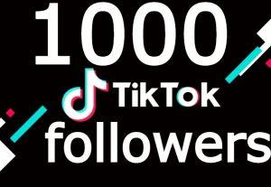 Tiktok 1000+ followers NONE DROP GUARANTEED