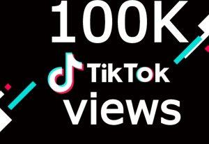 TIKTOK 100K plus views INSTANT OR 1000 likes instant