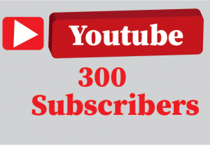 300+ youtube subscribers Non Drop and 100% guaranteed