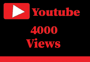 4000+ Youtube Views,Non Drop and 100% Real