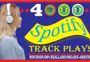 i will do spotify 4000 track plays .organic ,best quality and life time guaranteed