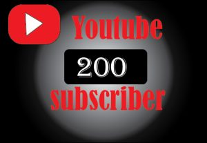 200 youtube subscriber , non drop and 100% real