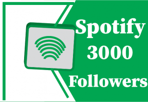 3000+ Spotify followers, best quality and lifetime  permanent
