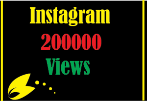 200000+ Instagram Views, Best Quality and Lifetime permanent