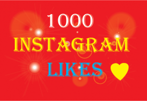 1000+Instagram likes,Non Drop and 100% Real
