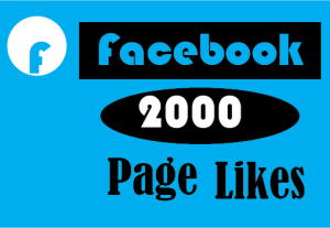 2000+ facebook page likes,best quality and 100% real