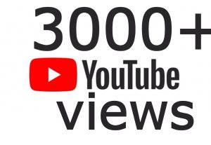 I will Add High Quality 3,000+YT views Real none drop