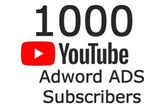 I will send you 1000 YOUTUBE Adword ADS Subscribers ~ 𝐍𝐎 Drop