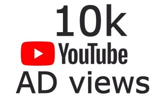 100% Real none drop 10K+ Youtube AD views