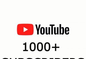 Send you 1000+ youtube NONE DROP SUBSCRIBERS