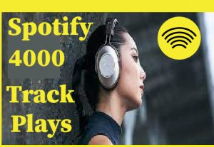 4000+ Spotify track plays, Non drop and 100% guaranteed