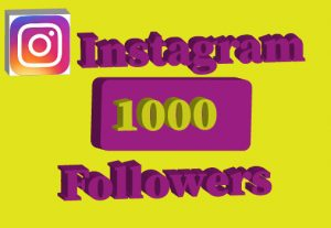 1000+Instagram followers,Non drop and 100% real