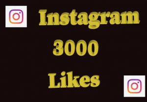 3000+ Instagram Likes,Non drop and 100% Real