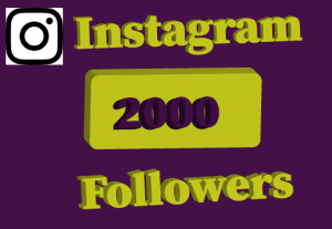 2000+ instagram followers,best quality and Lifetime permanent