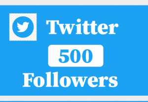500+ Twitter Followers,Best Quality ,Non Drop and 100% Real
