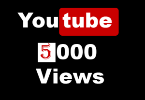 YouTube 5000+ Views,Non Drop and 100% Real