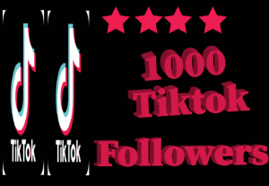 1000+ tiktok Followers, best quality and 100% real