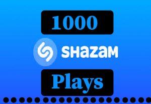 1000+ Shazam plays,Non drop and 100% guaranteed