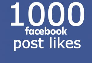 I will add 1000 facebook post likes or 20K views