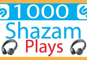 I Will Provide shazam 1000 plays .Non-Drop, best quality, organic ,and lifetime permanent