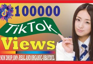i will do fast tiktok 100000 views . non drop, best quality and organic