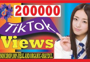 I WILL DO SUPER FAST TIKTOK 200000 VIEWS. 100% REAL LIFE TIME GUARANTED AND ORGANIC
