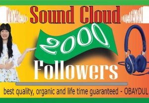 Get 2000+ SoundCloud Organic and Real Followers instant, Non-drop, Lifetime guarantee